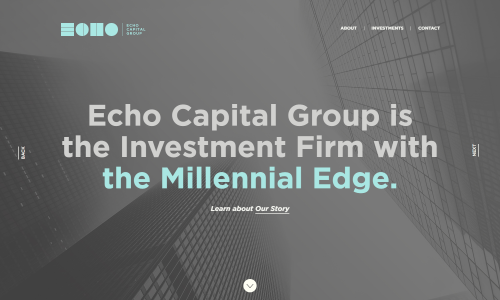 The Investment Firm with the Millennial Edge   Echo Capital Group