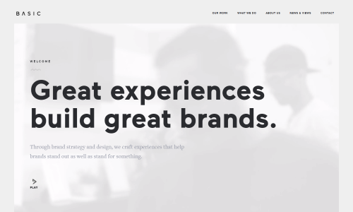BASIC™   A Brand   Web Design Agency