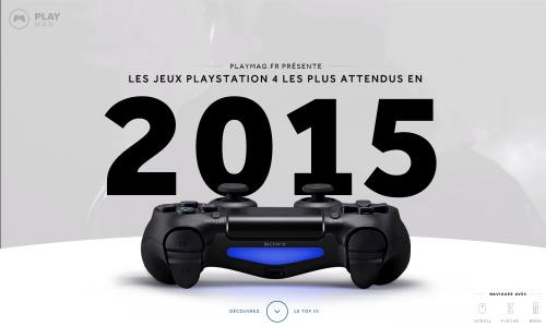 Les jeux PlayStation 4 les plus attendus en 2015  par PlayMag.fr