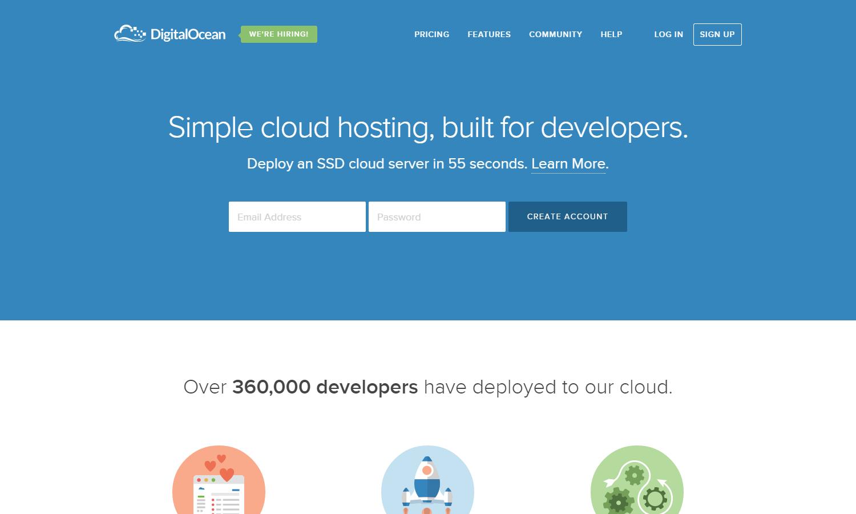 SSD Cloud Server  VPS Server  Simple Cloud Hosting   DigitalOcean
