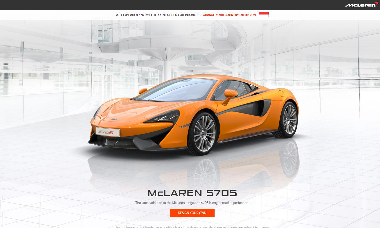 McLaren 570S Configurator