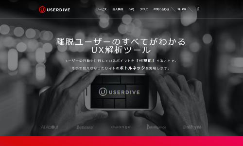 ヒートマップでのユーザー解析やサイト、アプリ分析なら « USERDIVE